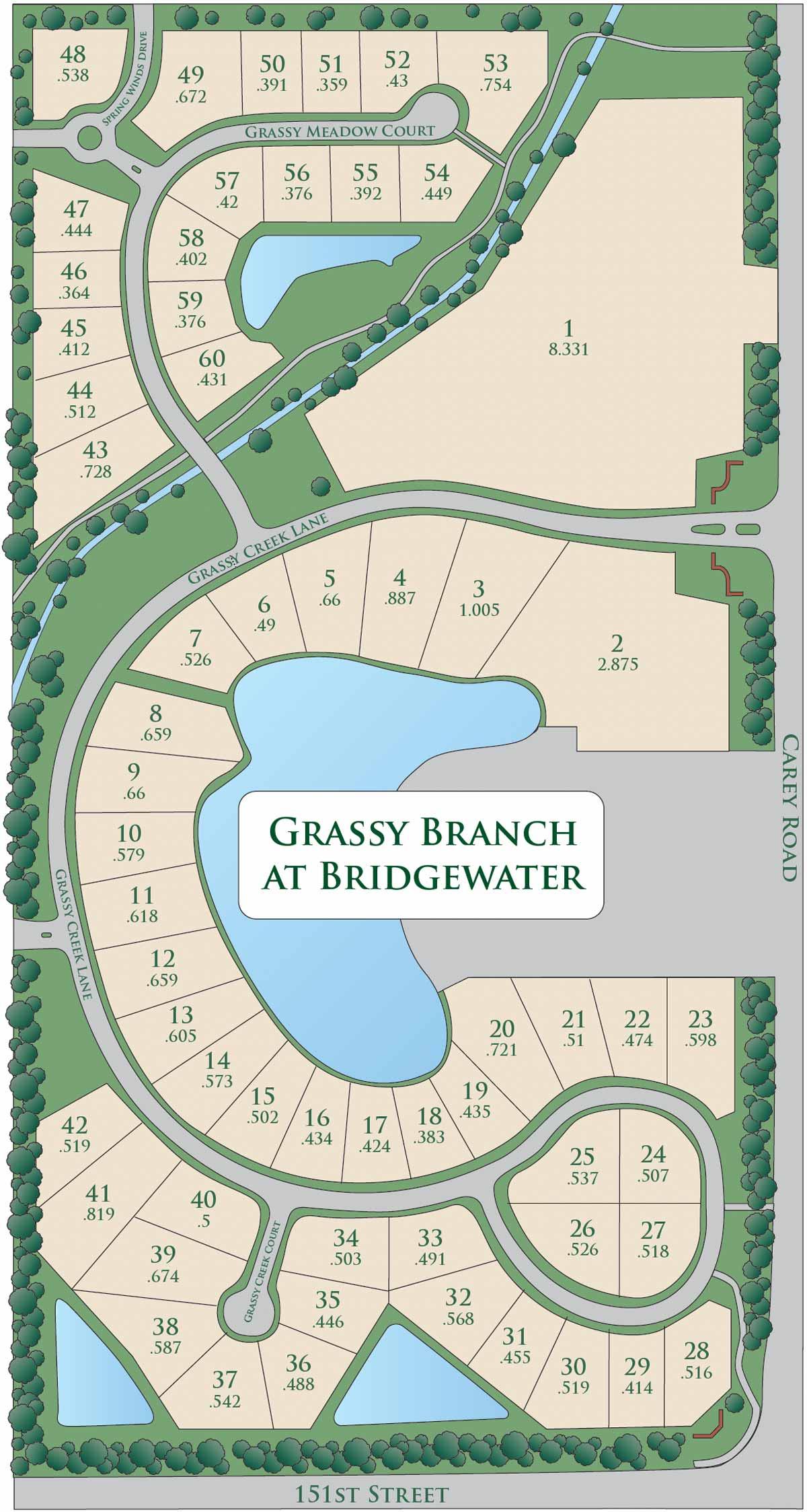 grassy branch map